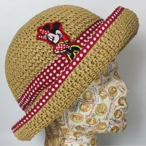 Minnie Mouse Spring Summer Straw Hat
